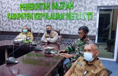 Sekda Bersama Kapolres Meranti Ikuti Rakor Penanganan Covid-19 Bersama Presiden RI Joko Widodo